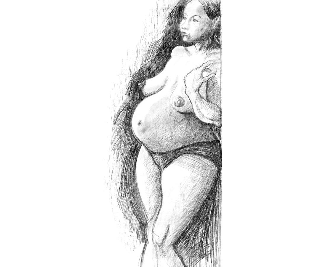 LUTOPIQUANT_croquis_nu-enceinte
