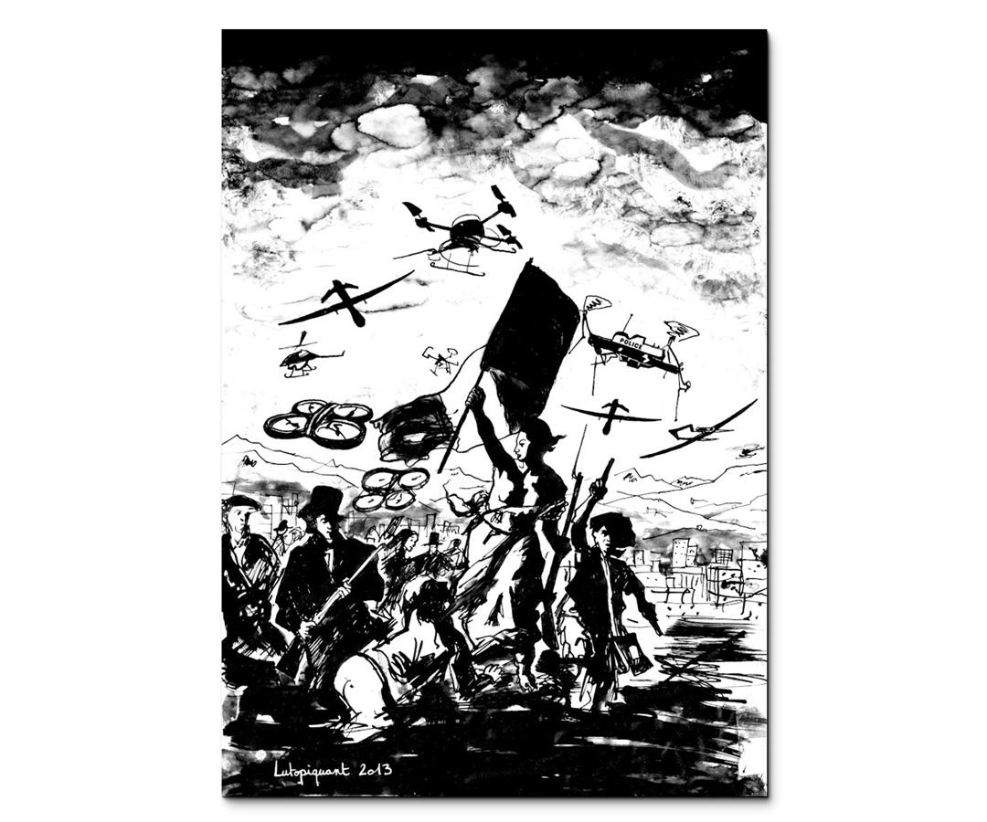 Lutopiquant_Presse_-Postillon_La-liberte-guidant-les-drones-2